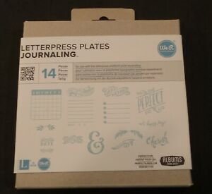We R Memory Keepers Letterpress Plates 14 Piece Set Journaling