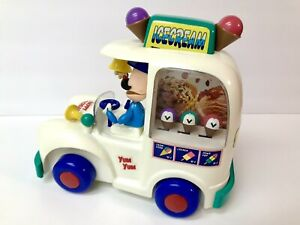 Vintage 1993 Dancing Ice Cream Truck By Metro Toy White Rare Light Sounds Work