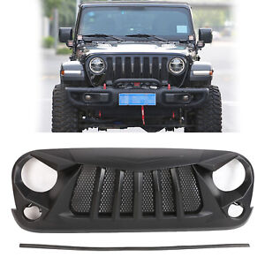 Unpainted Grillr Grill With Mesh For Jeep Wrangler Jk 2007 2017