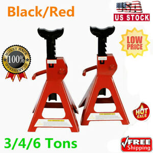 1 Pair Racing 3 4 6 Tons Jack Stands Heavy Duty For Car Truck Auto Us