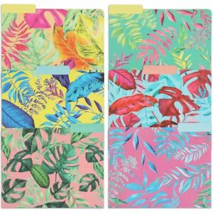 Tropical File Folders With 1 3 Cut Tabs letter Size 12 Pack