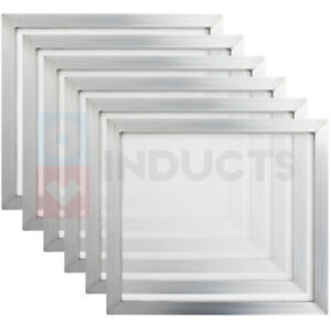 18 X 20 Inch Screen Print Aluminum Frame Plate Making 110 Count Mesh 2 Thick