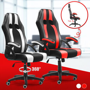 Executive Office Chair High Back Racing Gaming Chair Swivel Computer Desk Seat