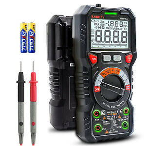 Kaiweets 6000 Counts Trms Auto ranging Lcd Digital Multimeter Ac Dc Test Leads