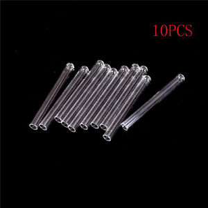 10pcs 100 Mm Pyrex Glass Blowing Tubes 4 Inch Long Thick Wall Tes I2l3