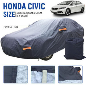 For Honda Civic Car Cover All Weather 100 Waterproof Uv Dust Breathable