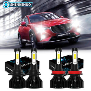 For Mazda 3 2010 2018 Mazda3 Sport Led Headlights Kit High Low Beam Bulbs