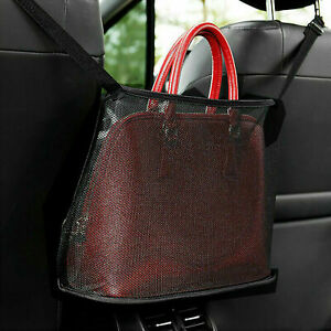 Universal Car Net Pocket Handbag Holder Organizer Seat Side Storage Mesh Net Bag