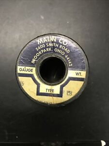 Vintage Malin 16 Gauge Copper Soldering Wire 15 4 Ounces With Spool