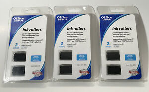 Lot Of 3 Two packs Office Depot Ink Rollers For Monarch 1131 1136 Labelers