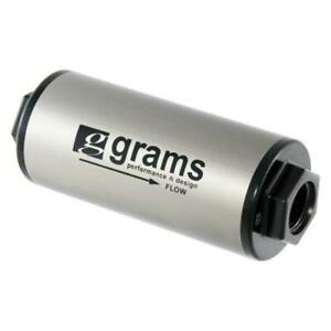 Grams Performance In Line Stainless Steel 8an Fuel Filter Universal G60 99 0108