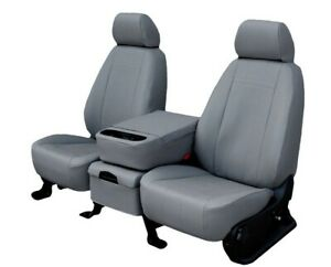 Ford Mustang 2005 2011 Light Grey Faux Leather Custom Fit Front Seat Covers