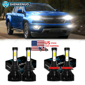Combo Led Headlight Bulb High Low Beam For Chevy Colorado 2013 2020 9005 H11