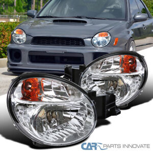 For 02 03 Subaru Impreza Outback Wrx Clear Headlights Head Lamps Replacement Set
