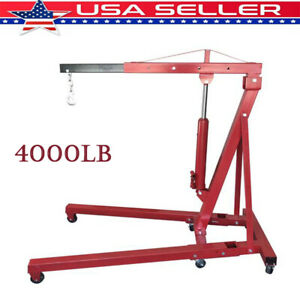 4000 Lb Engine Stand Folding Motor Hoist Dolly Mover Auto Repair Rebuild Jack
