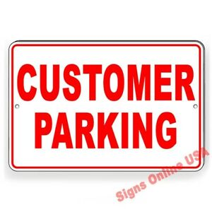 Customer Parking Metal Sign Or Decal 6 Sizes Business Only Towed