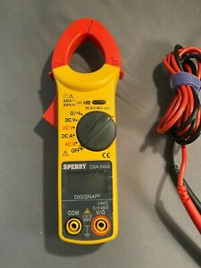 Sperry Instruments Dsa540a 6 Function Digital Snap around Clamp Meter Clamp