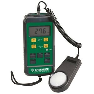 Greenlee 93 172 0 1 50000 Lux Color And Cosine corrected Digital Light Meter