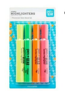Highlighters 2 Packs Of 4 Yellow Green Orange Pink Chisel Tip