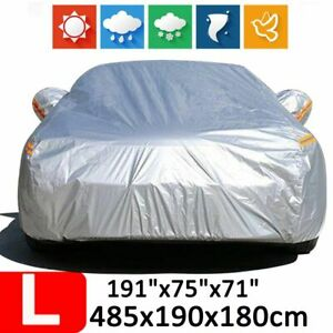 Large Waterproof Full Car Suv Cover Rain Dust Uv Resistant Protection Outdoor