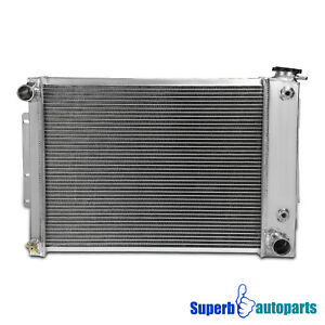 For 1967 1969 Aluminum Racing Cooling Radiator Chevy Camaro Pontiac 3 Row Core