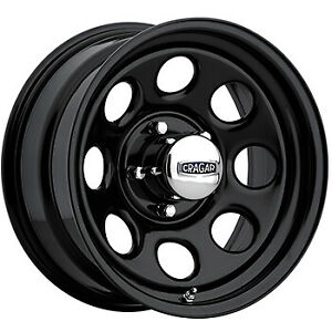 4 17x8 Black Wheel Cragar Soft 8 397 5x5 0