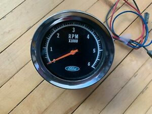 Vintage 65 66 Ford Faria 6000 Rpm Tachometer Torino Mustang Very Nice Condition