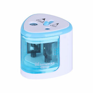 Automatic Electric Pencil Sharpener Blue Battery Operated For Kids School Office