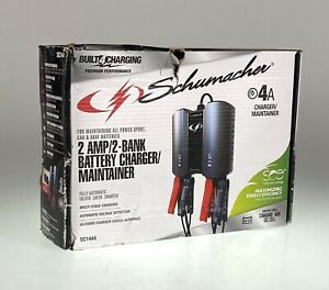 Schumacher 4a 2amp 2 bank Battery Charger maintainer Sc1444