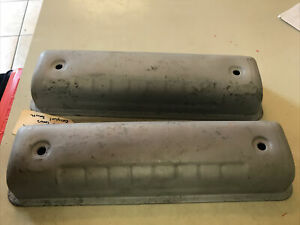 Original Pair 1957 Ford F100 Y Block Smooth Valve Covers