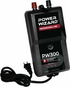 New Power Wizard Professional Line Electric Fence Energizer Pw300 110v 30 Acres