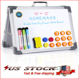 Standing Magnetic A type Dry Erase Board Double Sided White Board Message Board