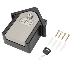 Digit Password Combination Key Lock Box Storage Wall Mount Security Outdoor Case