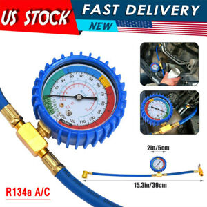 Self sealing R134a A c Can Tap Gauge Hose Recharge Refrigerant Ac Conditioning