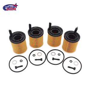 4x Oil Filter Pack W seals 26350 2m000 Fit For 2019 2020 Kia Rio 1 6l Engine