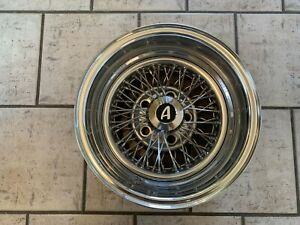 Vintage Appliance Spoke Wire Wheel 14 X 7 5 On 4 3 4 Bs 2 1 4 Good Condition