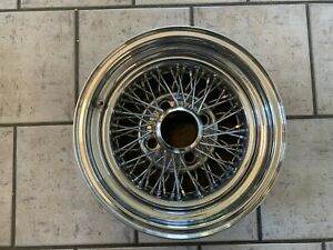 Vintage Appliance Spoke Wire Wheel 14 X 6 With 4 On 4 3 4 And Bs 3 1 2 Nice