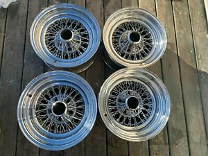 Vintage Appliance Wire Spoke Wheels 2 15 X 7 And 2 15 X 8 5 On 4 3 4