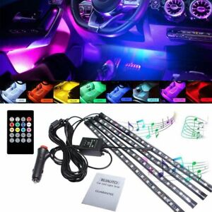 48 Led Car Interior Neon Atmosphere Light Strip Music Control Color Changing