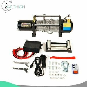 Electric Recovery Winch 8000lbs 27m Steel Cable Rope Truck Trailer 12v Offroad