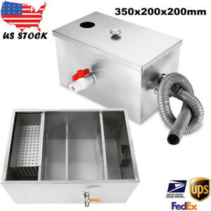 Stainless Steel Grease Trap Interceptor Oil Water Separator For Kitchen Waste