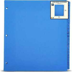 3 Ring Binder Dividers W Tabs Alphabetical A Z 11 X 9 In 26 Pack