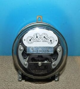 City Of Los Angeles Sangamo Electric Power Meter 240v 5a Free Shipping