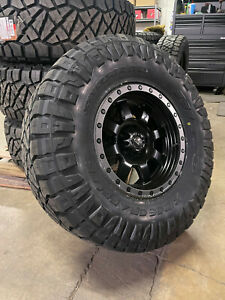 17x9 Fuel D551 Trophy Black Wheels 35 Nitto At Tires 6x135 Ford F150 Raptor