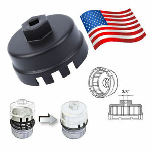 Oil Filter Cap Wrench Cup Socket Remover Tool For Toyota Lexus 64mm 14 Flutes