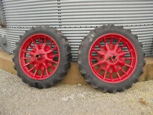 Mccormick Deering Farmall Ih F12 F14 H Tractor 11 2 X 38 Armstrong Tires Rims