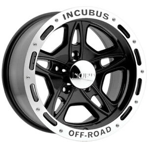 4 incubus 511 16x8 5x4 5 6mm Black machined Wheels Rims 16 Inch
