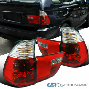 00 06 Bmw E53 X5 Red Clear Parking Tail Trunk Lights Rear Brake Lamps Left Right