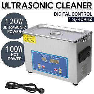 Commercial 4 5l Ultrasonic Cleaner Industry Heated Timer Heater Jewelry Glasses