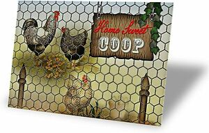 Home Sweet Coop Tin Signs Retro Vintage Decor Metal Bar Coop Kitchen Sign 12x8in